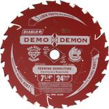 "Diablo Genuine 7-1/4"" X 24T Framing Circular Saw Blade # D0724DA"