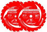 "Diablo 2 Pack of Genuine 7-1/4"" X 24T Framing Circular Saw Blades # D0724DA-2PK"