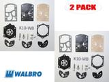 Walbro 2 Packs Of K10-WB Carburetor Repair Kits