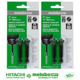 Hitachi 2 Pack of Genuine OEM Magnetic Bit Set (4 Bits) # 115003-2PK