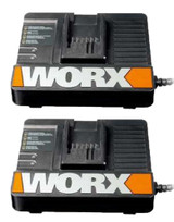 Worx 18V Lithium-Ion 2 Pack Of OEM Replacement 30 Min Rapid Charger WA3838 # 50018199-2PK