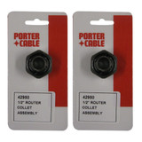 Porter Cable 2 Pack Of Genuine OEM Replacement Collets # 42950-2PK