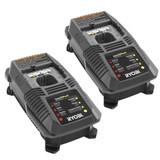 Ryobi P2107 & P2700 18V Cultivator 2 Pack 1 Hour 18V Charger # 140185009-2PK