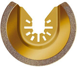 Rockwell Sonicrafter Oscillating Multitool 3-1/8 Inch Universal Fit Carbide Grit Semicircle Blade # RW8946