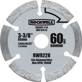 Rockwell VersaCut 3-3/8 Inch Diamond Grit Circular Saw Blade # RW9228