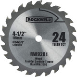 Rockwell 4-1/2 Inch 24T Carbide Tipped Compact Circular Saw Blade # RW9281