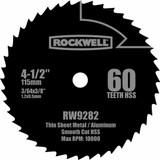 Rockwell 4-1/2 Inch 60T High Speed Steel Compact Circular Saw Blade # RW9282