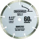 Rockwell 4-1/2 Inch 60-Grit Diamond Compact Circular Saw Blade # RW9283