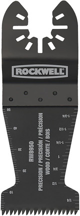 Rockwell Sonicrafter Oscillating Multitool Precision Wood End Cut Blade (3-PK), 1-3/8 Inch # RW8950.3