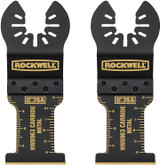 Rockwell Tools Sonicrafter Oscillating Multitool Extended Life Carbide End Cut Blade (2 Pack), 1-3/8 Inch # RW8963.2