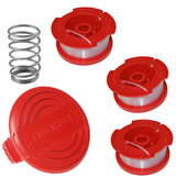 Craftsman Pack of Genuine OEM Replacement Cap, Spring and 3 Spools # COMBO00256