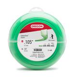 """Oregon Trimmer Line - 21-405 - Green Gatorline - Square - .105"""" Gauge, 1 lb. Donut, 179 Feet"""