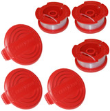 Craftsman Pack of Genuine OEM Replacement 3 Spools and 3 Caps # COMBO00257