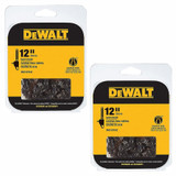 DeWalt 2 Pack of Genuine OEM Replacement Cutting Chains # DWO1DT612-2PK