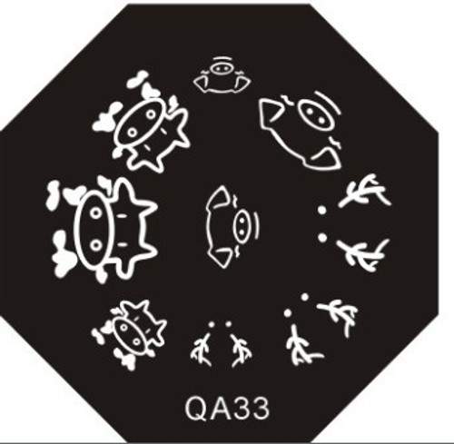 Farm Animal Plate QA33