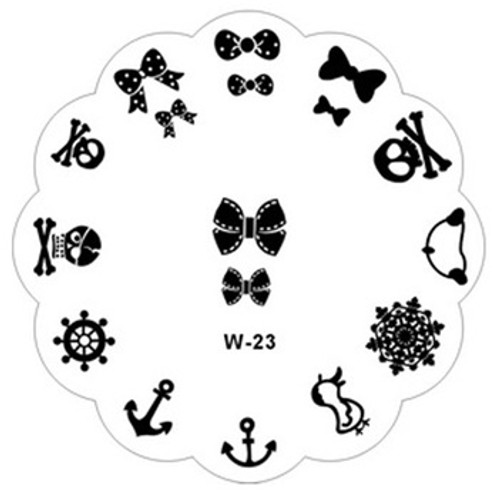 skull anchor bow image plate