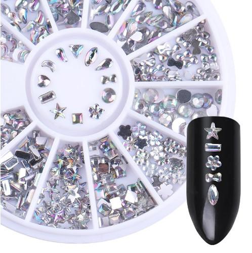 Mixed Rhinestone Wheel (Clear)