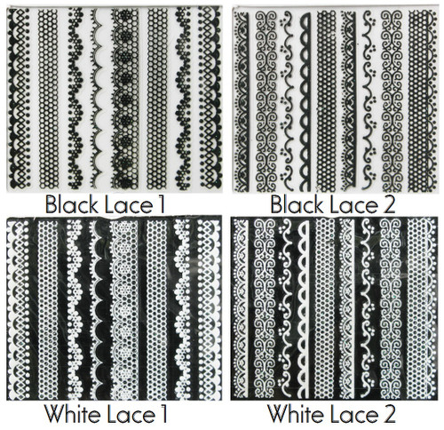 Black n White Lace Stickers