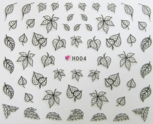 Lace Leaf Sticker H004