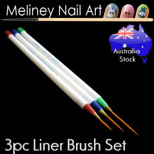 3pc liner thin Nail art brush set