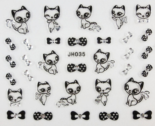 RS Bow Cat Sticker JH035