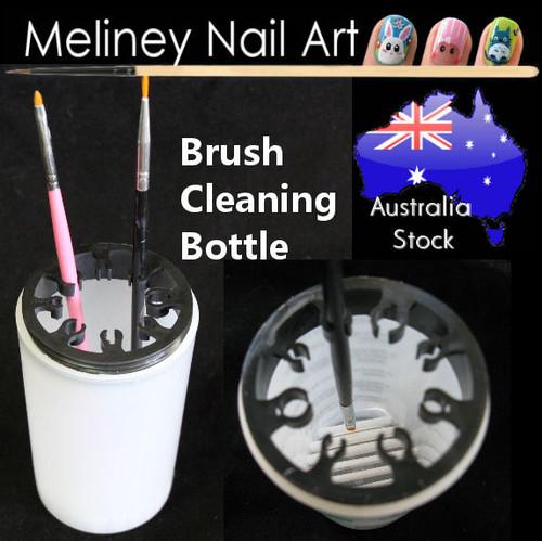 brush cleaning bottle