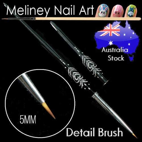 Nail Art Detail Brush (Black Handle)