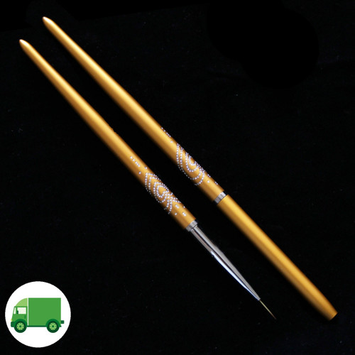 Nail Art Liner Brush (Gold Handle)