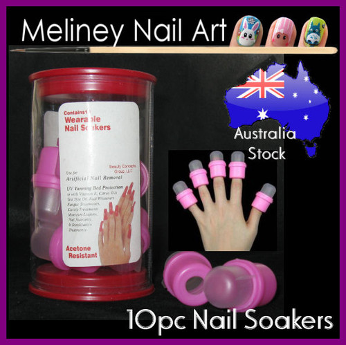 10pc wearable nail soakers to remove gel polish
