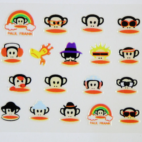 Paul Frank Monkey Nail Stickers