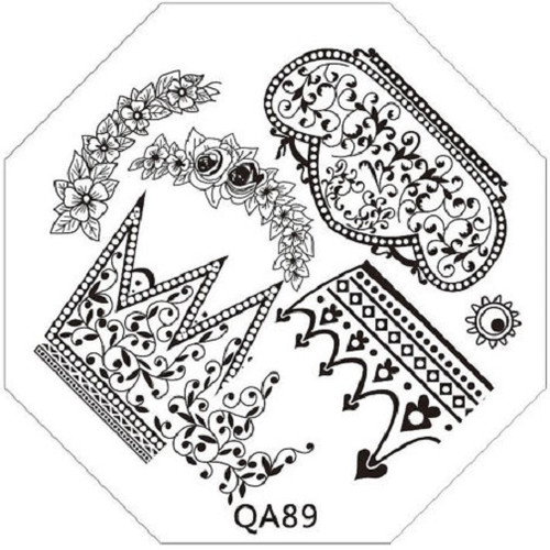 Crown & Flower Image Plate QA89