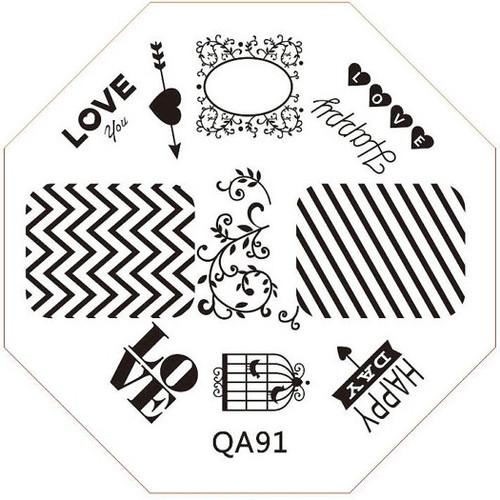 chevron stripe image plate QA91