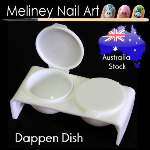Dappen Dish - Holds liquids to soak or wet nail brushes