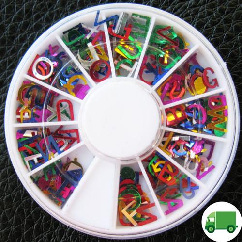 alphabet glitter wheel