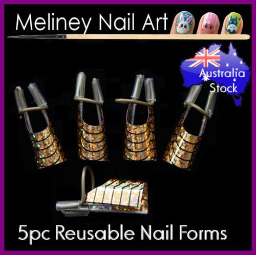 reusable nail forms