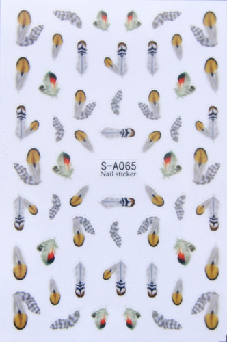 feather nail stickers