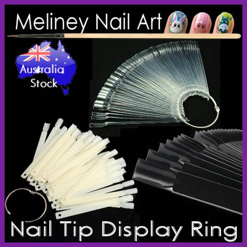 50pc nail tip display ring