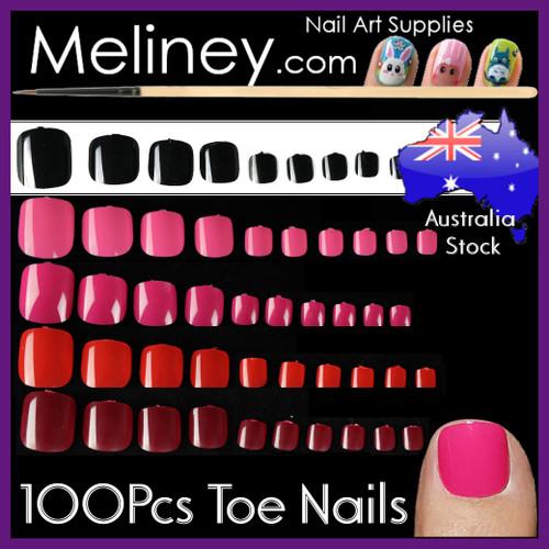 100pc false toe nails