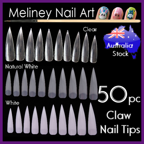 50pc stiletto claw nails