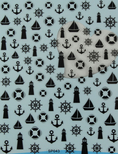 nautical nail art sticker