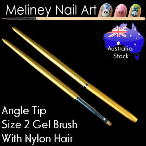 size 2 gel brush angle tip
