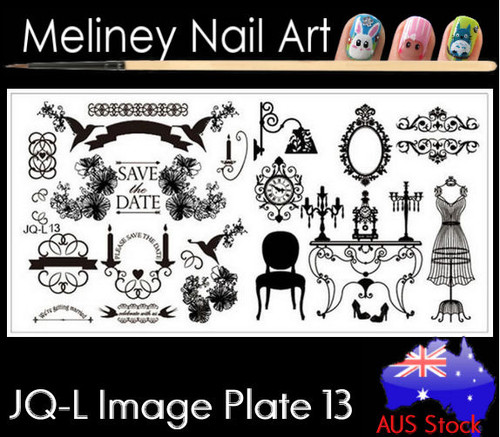 JQ-L13 image plate for stamping nail art designs