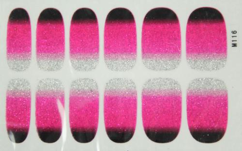 Glitter Nail Wrap - Gradient Pink