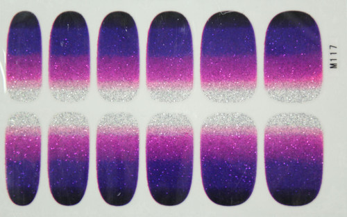 Glitter Nail Wrap - Gradient Purple