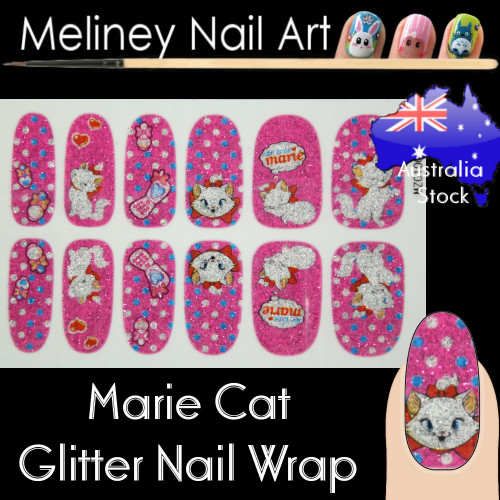 marie cat nail wraps