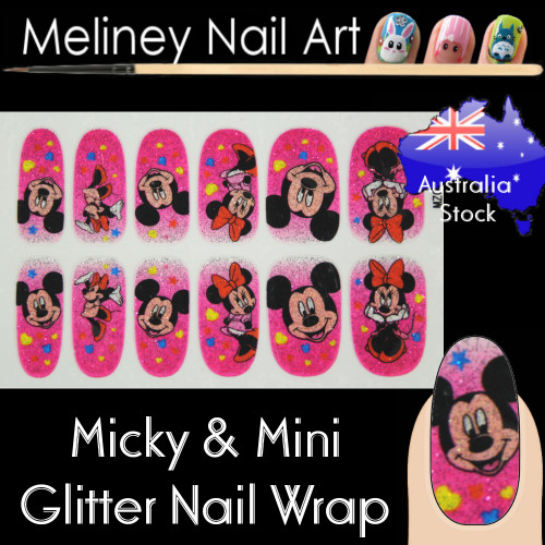 Micky mouse nail wraps