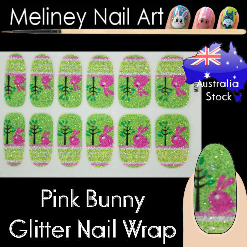 easter bunny rabbit nail wraps sticker