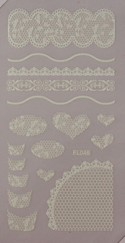 Lace Sheet (FL046 White)