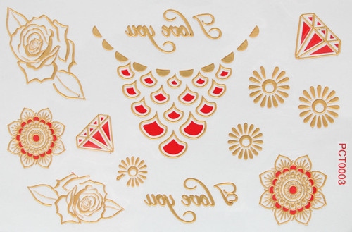 3d Mettalic Flash Body Tattoos