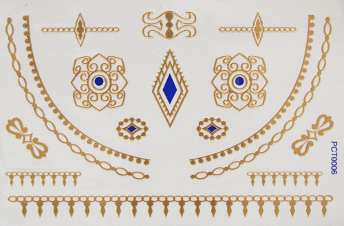 3d Metallic Flash Body Tattoos